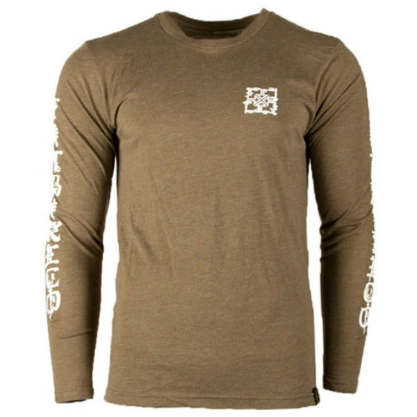 Fit Kanji Long Sleeve Shirt military green BMX Tee