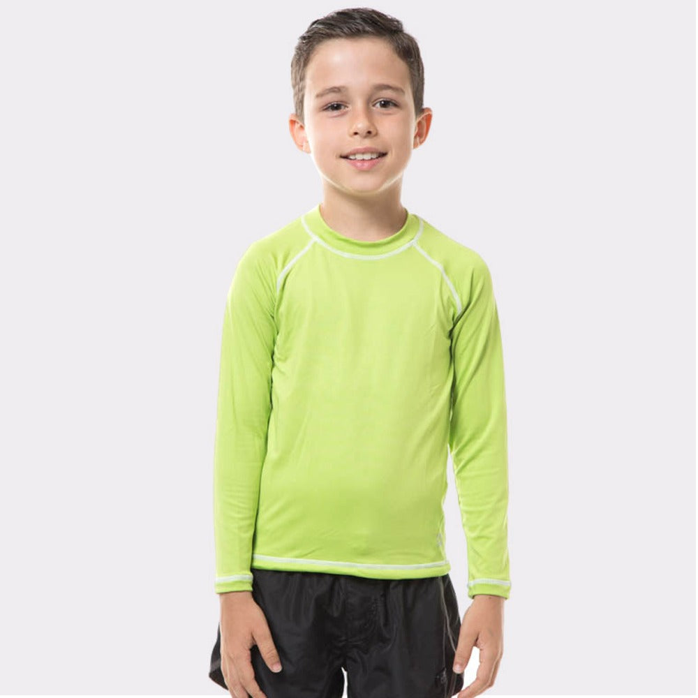 Kids Fpu50+ Uv Colors Long Sleeve T-Shirt Apple Green Uv
