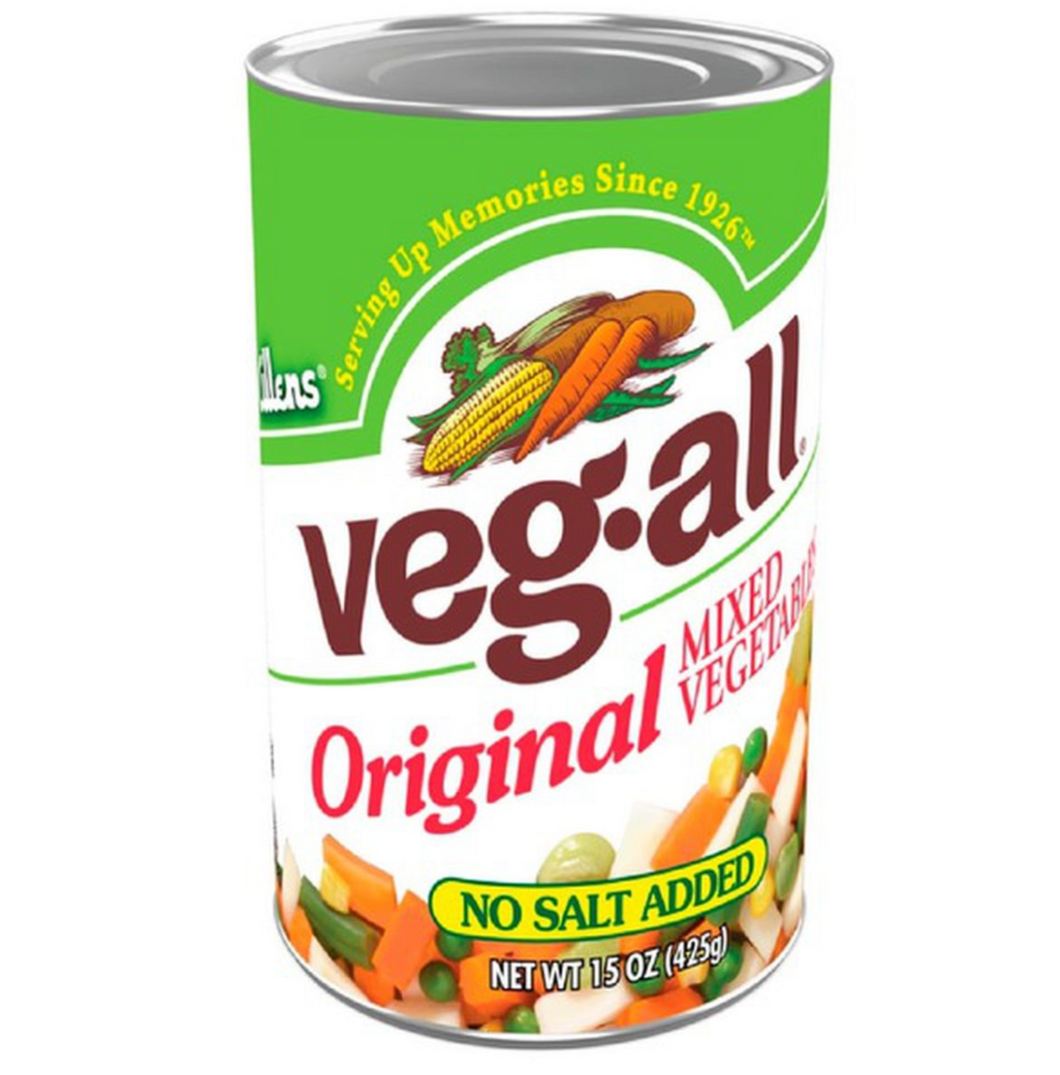 can of mixed vegetables