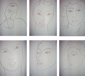 Henri Matisse - Poesies Antillaises- Complete portfolio of 28 prints + 10 prints from the delux edition - 1972
