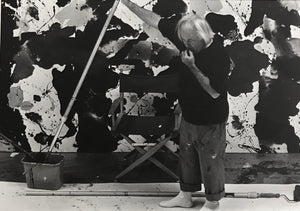 Kurt Blum - Sam Francis   1980  Silver print on ilford Galerie  Edition of 1  Size : 16 1/2 x 12 in (41.1 x 30.5 cm)  Photographer's stamp on the back and handsigned in feltpen