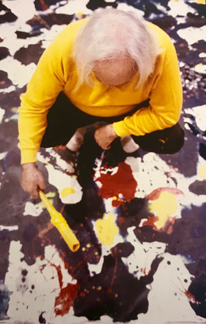 Kurt Blum - Sam Francis at work - 1980 - Vintage Photograph