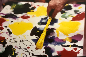Kurt Blum - Sam Francis painting - 1986 - Original Photograph