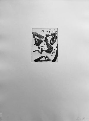 Sam Francis - Self Portrait - SFE 300  - 1982 - Aquatint