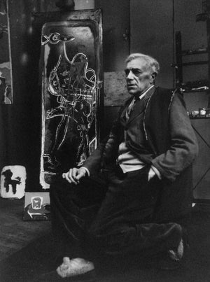 Kurt Blum - Georges Braque  1953  Silver print  Edition of 30  Size : 16 1/2 x 12 in (41.1 x 30.5 cm)  Photographer's stamp on the back and handsigned in feltpen