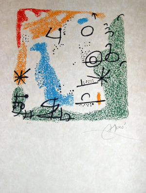 Joan Miro - Essencies de la tierra - 1968 - Complete set of 9 - Full sheet proofs