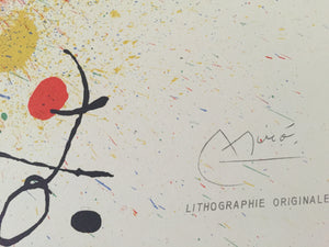 Joan Miro - Joan Miro - 1964 - m334 - signed Double proof of the unfolded cover