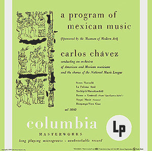 Andy Warhol - 1st cover - Carlos Chavez - A program of Mexican Music - Original Pressing - 1949