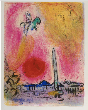 Marc Chagall - Place de la Concorde - 1963 - Unsigned proof