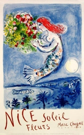 Marc Chagall - La Baie des Anges (Nice, Soleil, Fleurs) / Bay of Angels (Nice, Sun, Flowers)