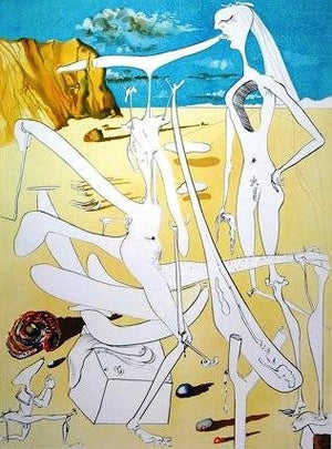 Salvador Dali - Infraterrestrials Adored by Dali at the Age of Six when he Thought Himself an Insect