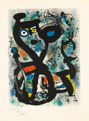 Miro - The Cat - 1st state -  Mourlot 636