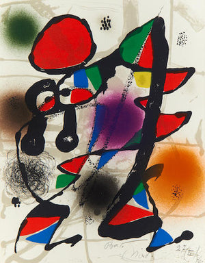 Joan Miro - Untitled (Lithograph III) - 1976 - Dupin 1119