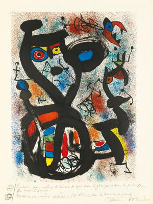 Miro - The Cat - 2nd State - Annotated by the Artist - Mourlot 636