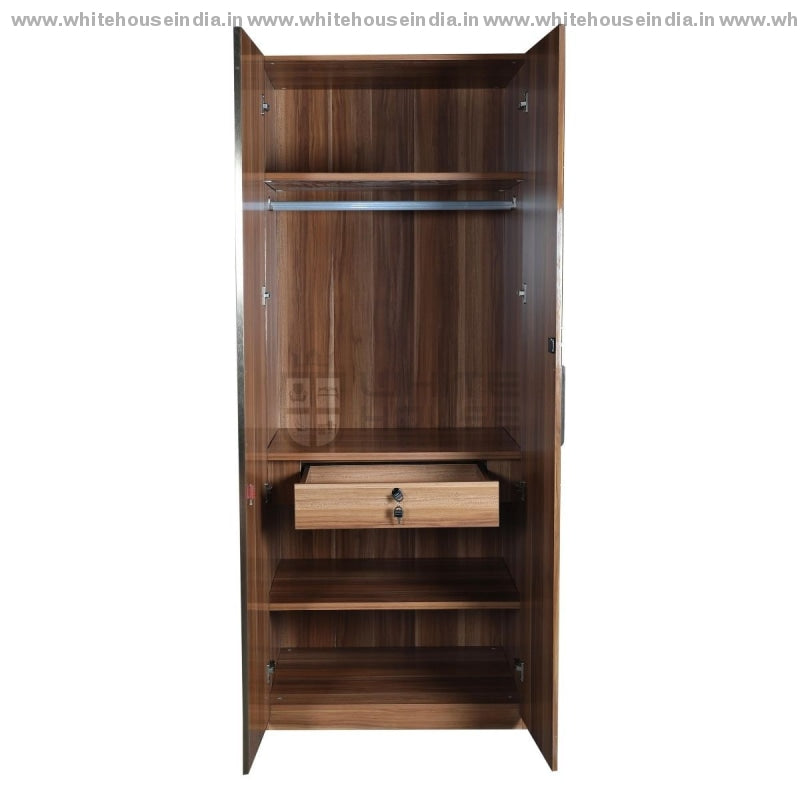 10E003 Wardrobe 2 Door Width=32 Height=79 Depth=23 Inc. / #c19A6B Material Mdf With Deco Paint High