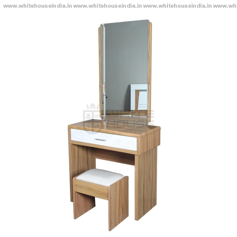11E001 Dressing Table Width=32 Height=70 Depth=16 Inc. / White Material Mdf With Deco Paint Dressing