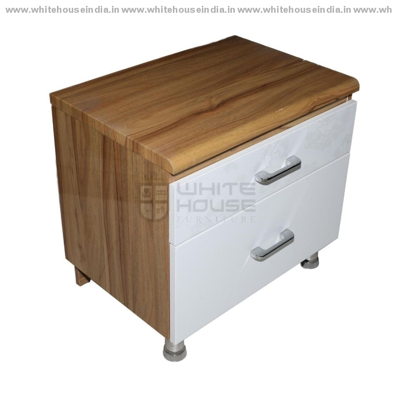 11E001 Side Table Width=21 Height=19 Depth=14 Inc. / White Material Mdf With Deco Paint Side Tables