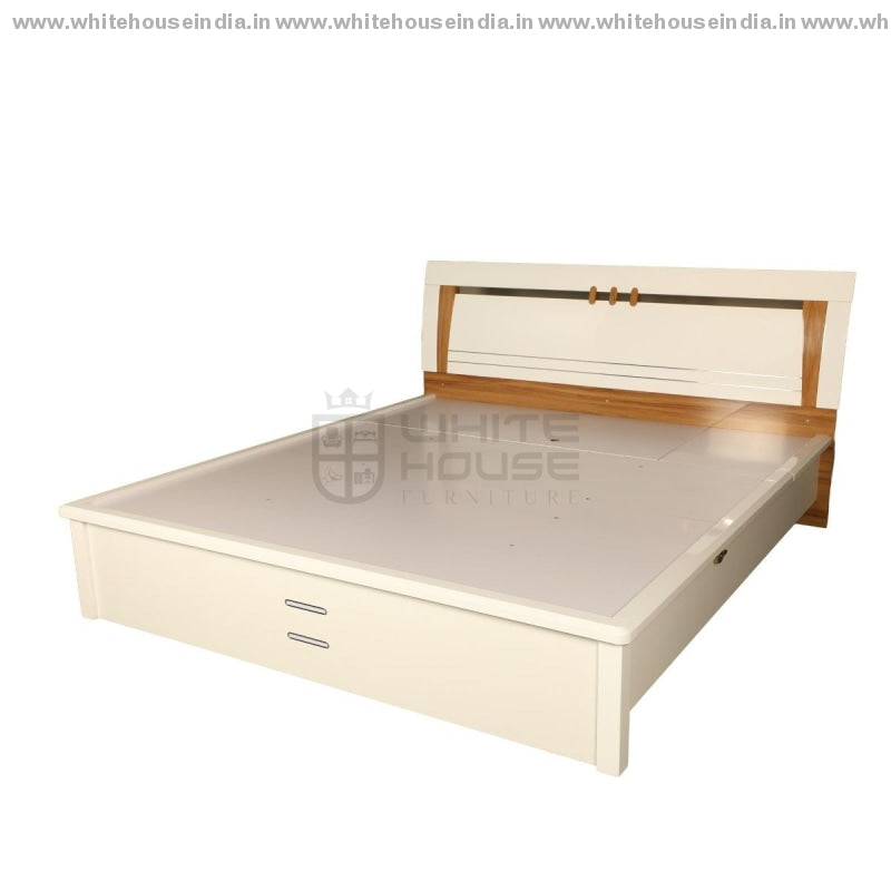 11E004 Bed 1.5M Queen Size Mattress = 59*79 Inc. / White Material Mdf With Deco Paint Beds