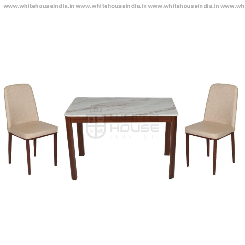 367-4/b852-6/c1512 Dining Table Set (1+4) 1.2M*0.7M / Black Wooden Base With Artificial Marble Top