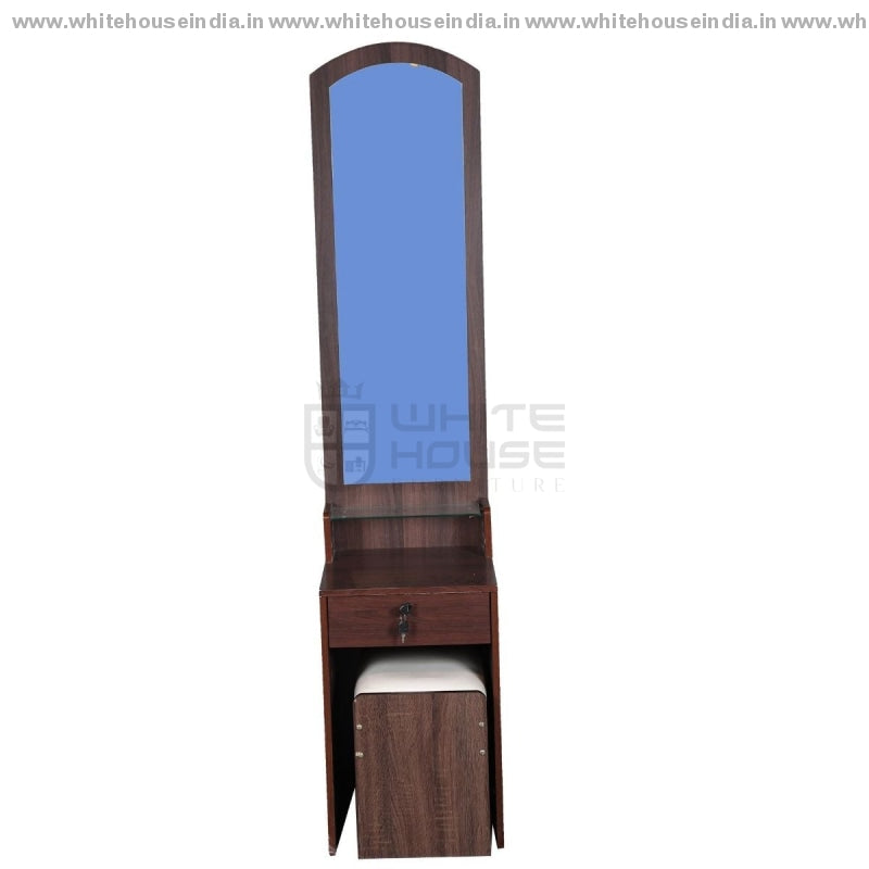 6013 Dressing Table Width=16 Height=72 Depth=16 Inc. / Brown Material Mdf With Peper Laminate
