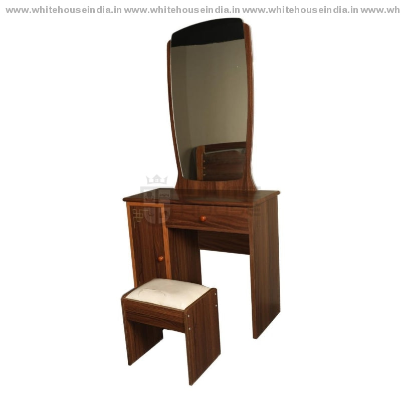 9E001 Dressing Table Width=35 Height=71 Depth=16 Inc. / Brown Material Mdf With Laminate Dressing