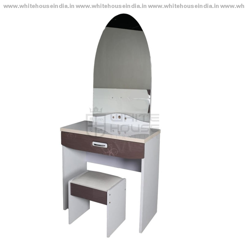 9F-001 Dressing Table Width=32 Height=72 Depth=16 Inc. / White Material Mdf With Deco Paint Dressing