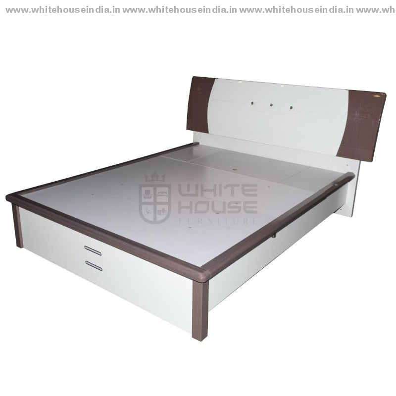 9F-004 Bed 1.5M Queen Size Mattress = 59*79 Inc. / White Material Mdf With Deco Paint Beds