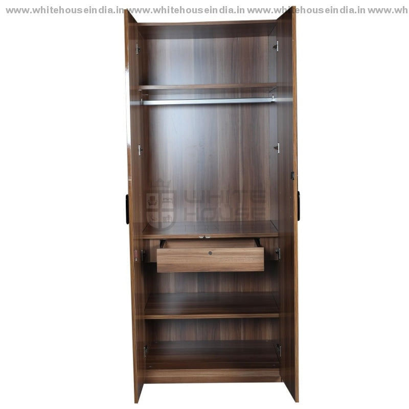 A8201 Wardrobe 2 Door Width=32 Height=79 Depth=23 Inc. / Black Material Mdf With Deco Paint High