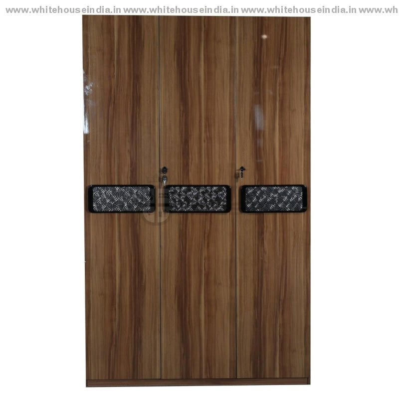 A8201 Wardrobe 3 Door Width=47 Height=79 Depth=23 Inc. / #c19A6B Material Mdf With Deco Paint High