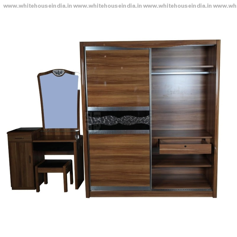 A8202 Wardrobe Sliding Door Width=71 Height=83 Depth=26 Inc. / Black Material Mdf With Deco Paint