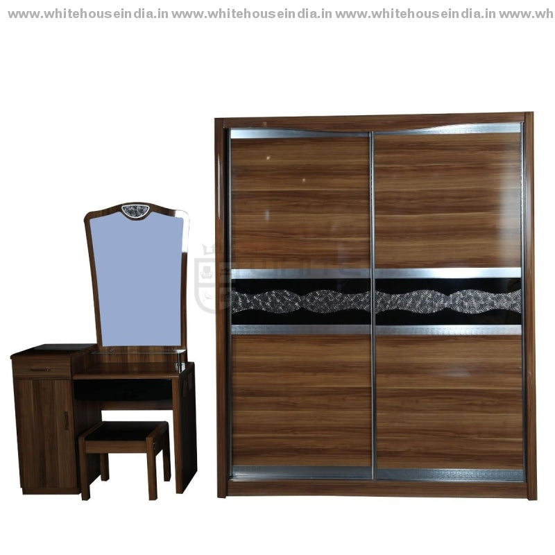A8202 Wardrobe Sliding Door Width=71 Height=83 Depth=26 Inc. / #c19A6B Material Mdf With Deco Paint
