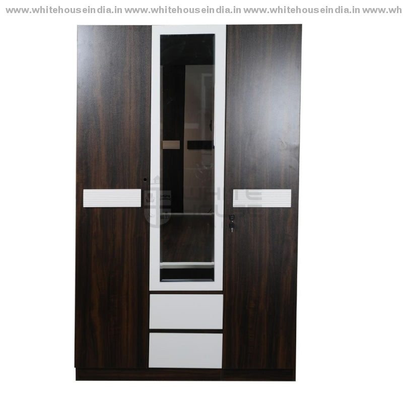 Bs-153A Wardrobe 3 Door Width=47 Height=79 Depth=22 Inc. / Off White Material Mdf With Deco Paint &