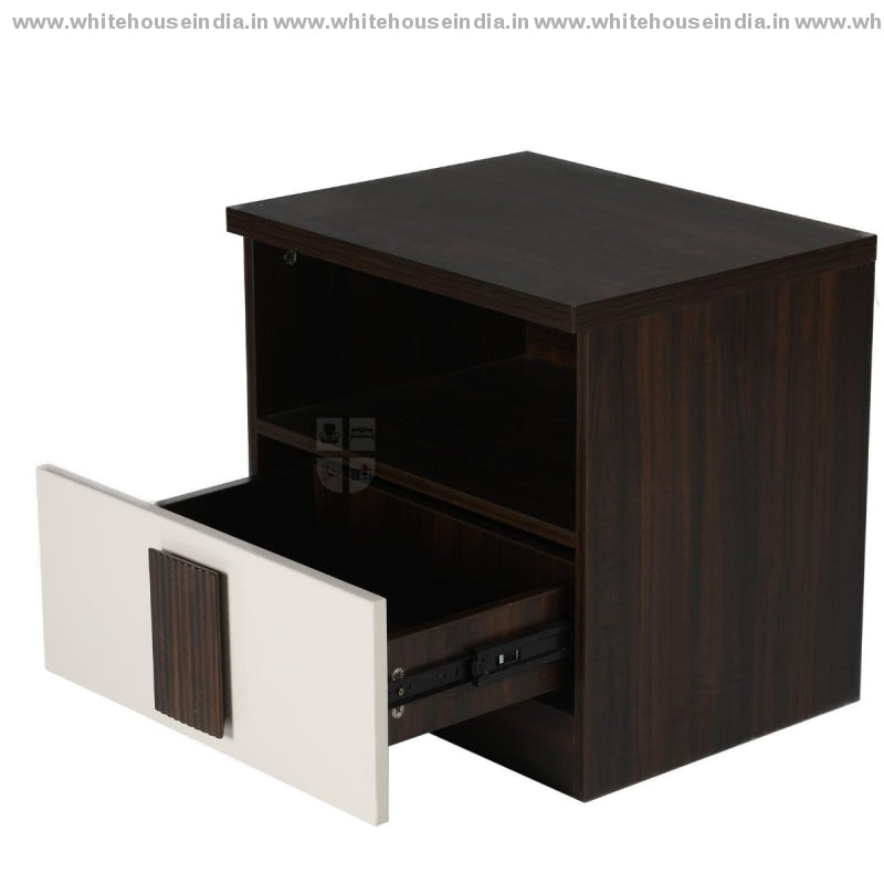 Bs-153C Side Table Width=20 Height=19 Depth=16 Inc. / Off White Material Mdf With Deco Paint &