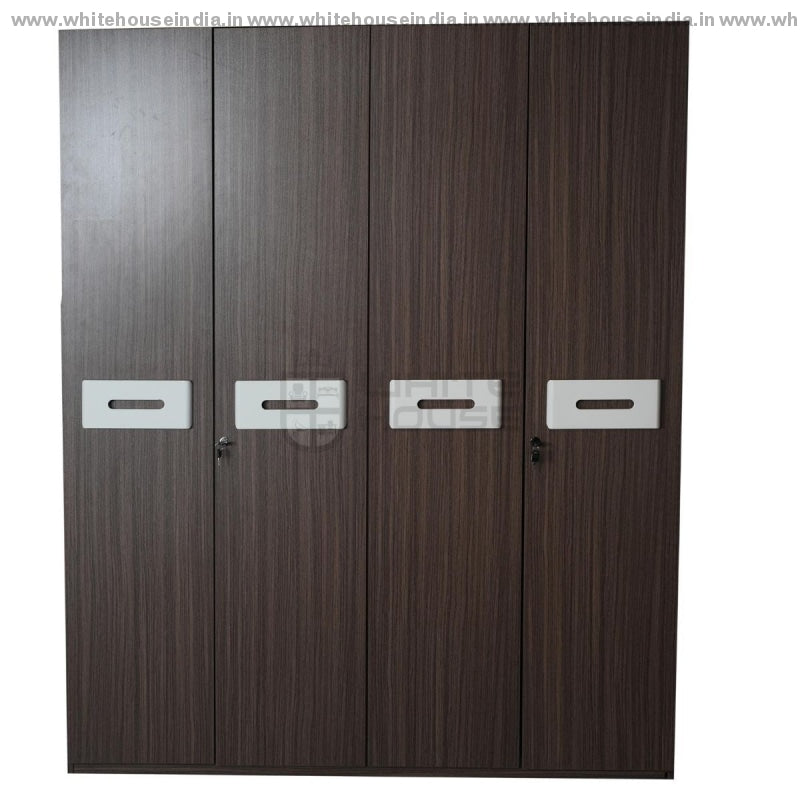 Bs-181A Wardrobe 4 Door Width=63 Height=79 Depth=22 Inc. / #7D161A Material Mdf With Deco Paint &
