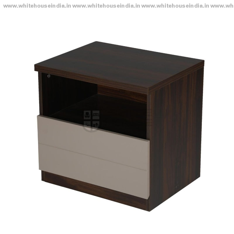 Bs-193C Side Table Width=20 Height=19 Depth=16 Inc. / Brown Material Mdf With Deco Paint & Laminate