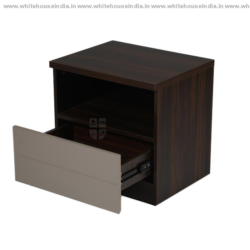 Bs-193C Side Table Width=20 Height=19 Depth=16 Inc. / Grey Material Mdf With Deco Paint & Laminate