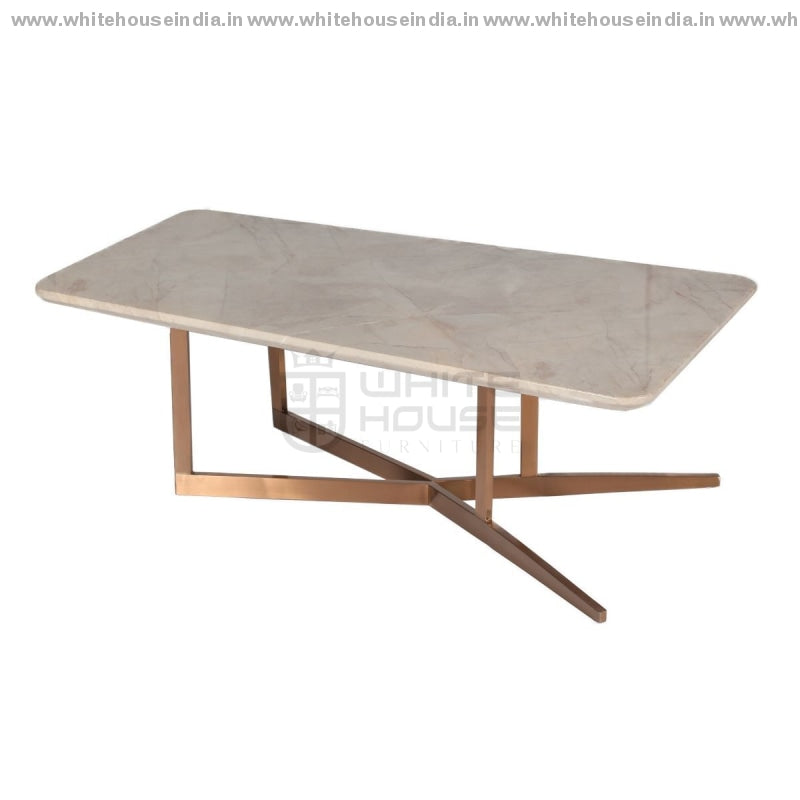 Cj-182A Center Table 1.1M*0.6M / #b76E79 Stainless Steel Base With Artificial Marble Top Center