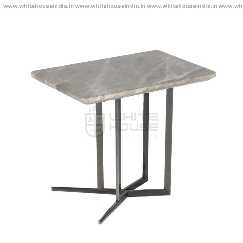 Cj-182B Corner Table 0.6M*0.4M / #878681 Stainless Steel Base With Artificial Marble Top Center
