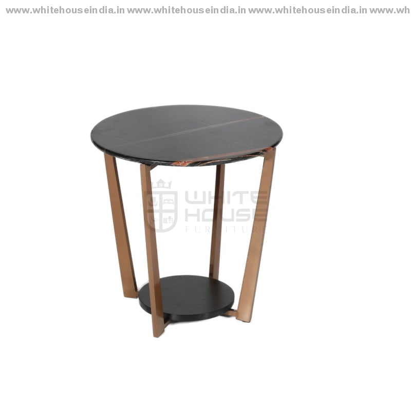 Cj-183B Center Table 0.5M*0.5M / #b76E79 Stainless Steel Base With Artificial Marble Top