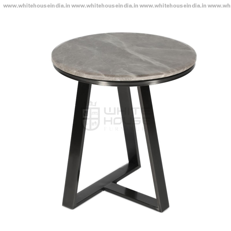Ct-2105 Corner Table B- 0.9M*0.9M / S- 0.5M*0.5M #000000 Stainless Steel Base With Artificial Marble