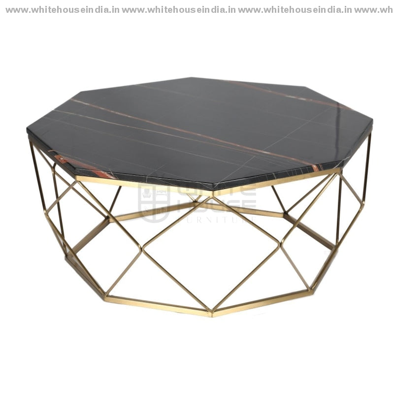 Ct-2751 Center Table 0.9M*0.9M / #cfb53B Stainless Steel Base With Artificial Marble Top Center