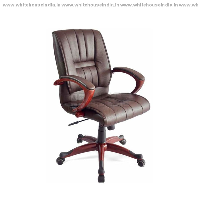 Elegant Brown Office Chair Medium Back Director Chairs