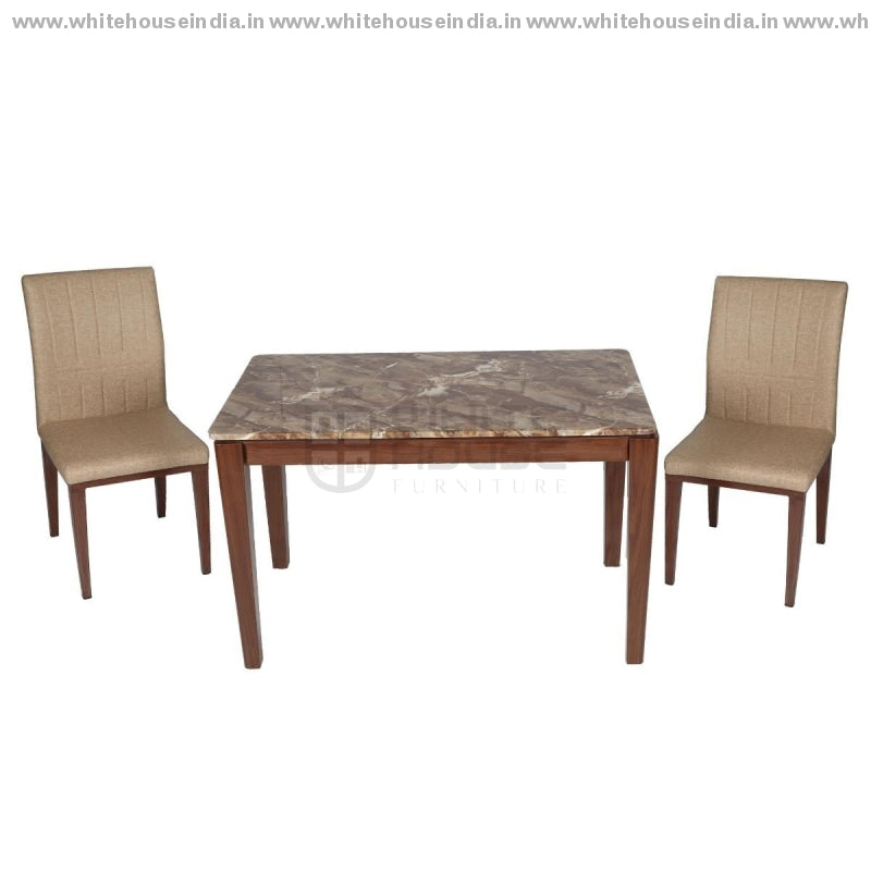Fhy/t1213-1/812 Dining Table Set (1+4) 1.2M*0.7M / Brown Wooden Base With Artificial Marble Top