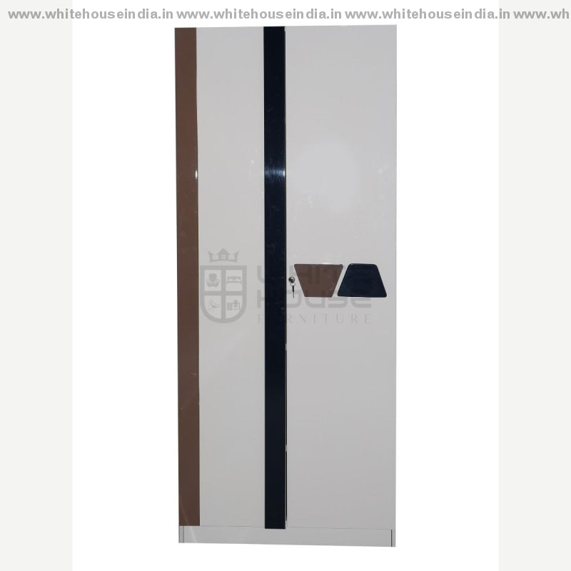 S01 Wardrobe 2 Door Width=32 Height=79 Depth=23 Inc. / Off White Material Mdf With Deco Paint
