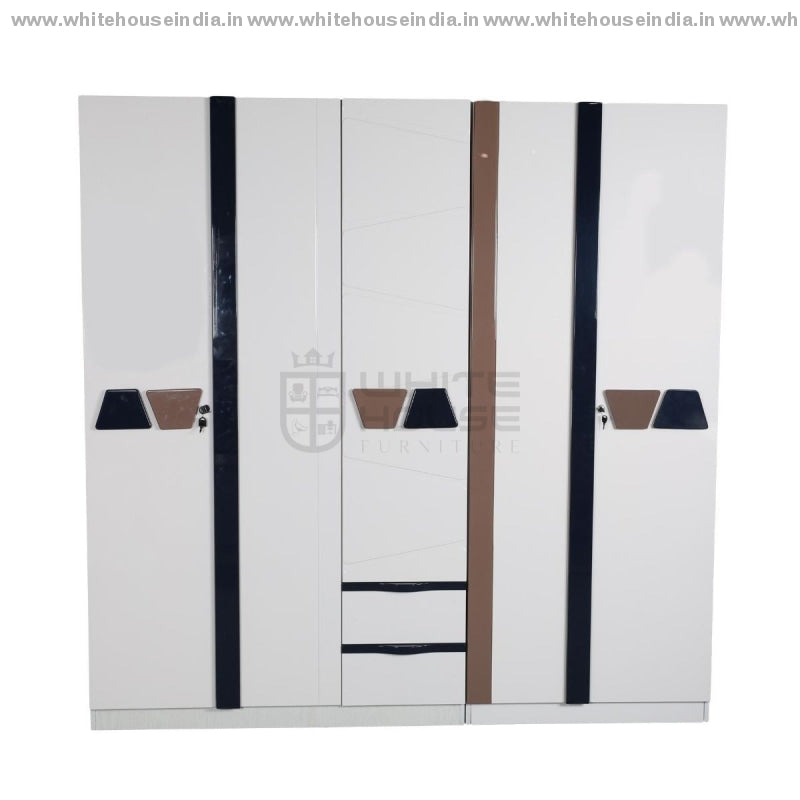 S01 Wardrobe (2+3) Door Width=79 Height=79 Depth=23 Inc. / Off White Material Mdf With Deco Paint