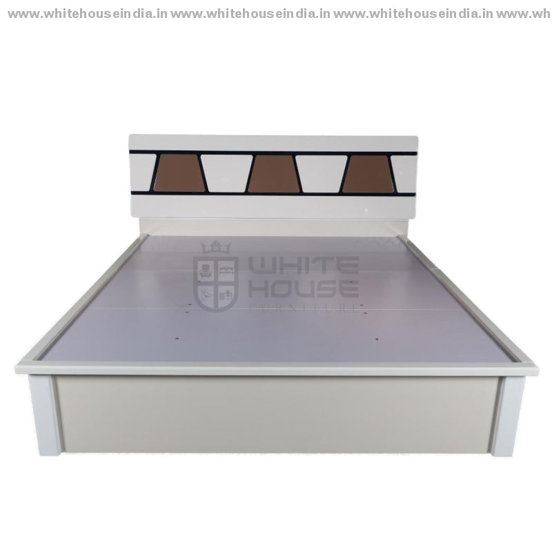S03 Bed 1.8M King Size Matters = 71*79 Inc. / Off White Material Mdf With Deco Paint Beds