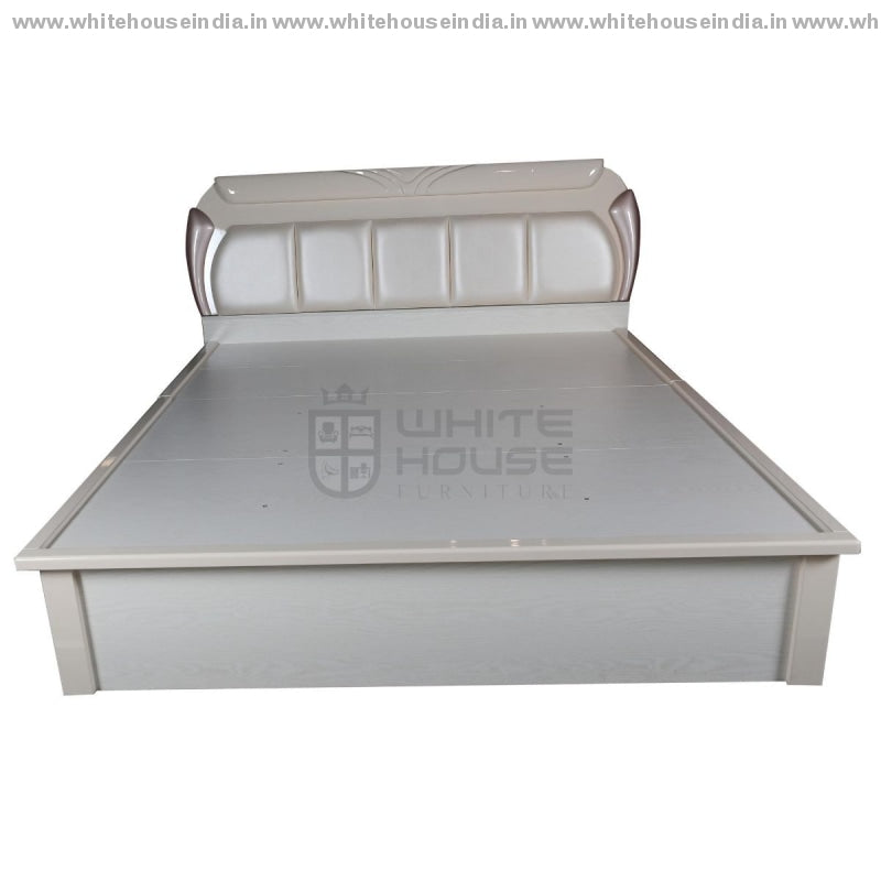 V-01 Bed 1.5M Queen Size Matters = 59*79 Inc. / Off White Material Mdf With Deco Paint Headboard