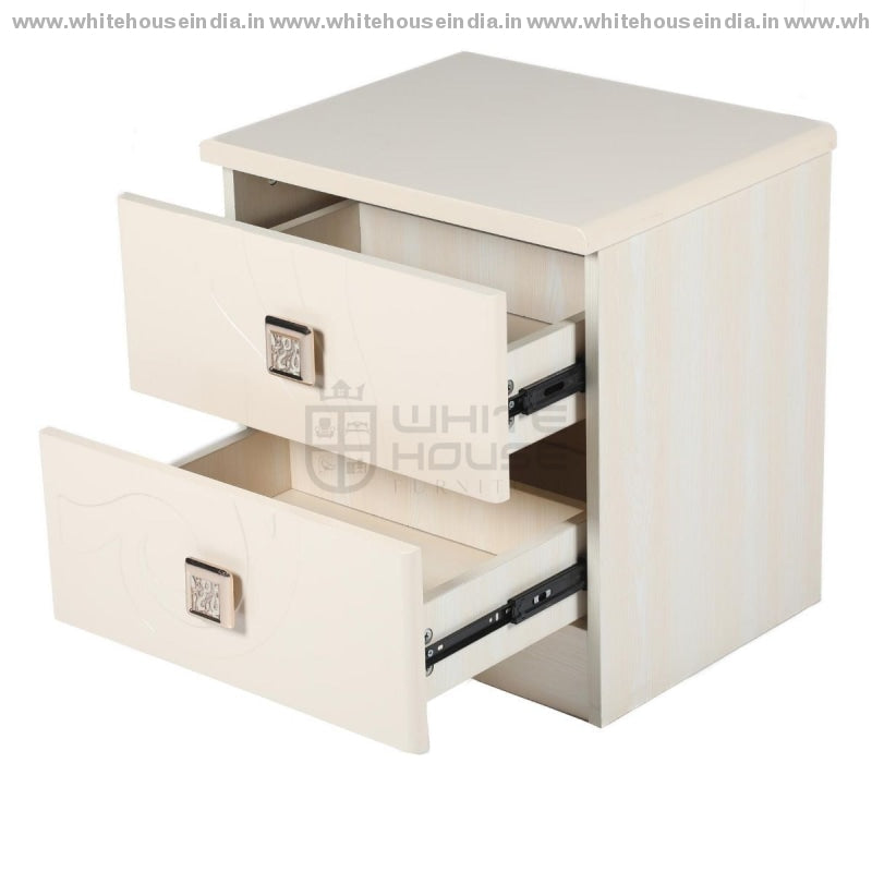 V-01 Side Table Width=19 Height=20 Depth=16 Inc. / Off White Material Mdf With Deco Paint Side