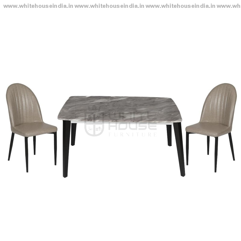 Xmd/t1218D/y239 Dining Table Set (1+4) 1.2M*0.8M / Grey Wooden Base With Artificial Marble Top Chair