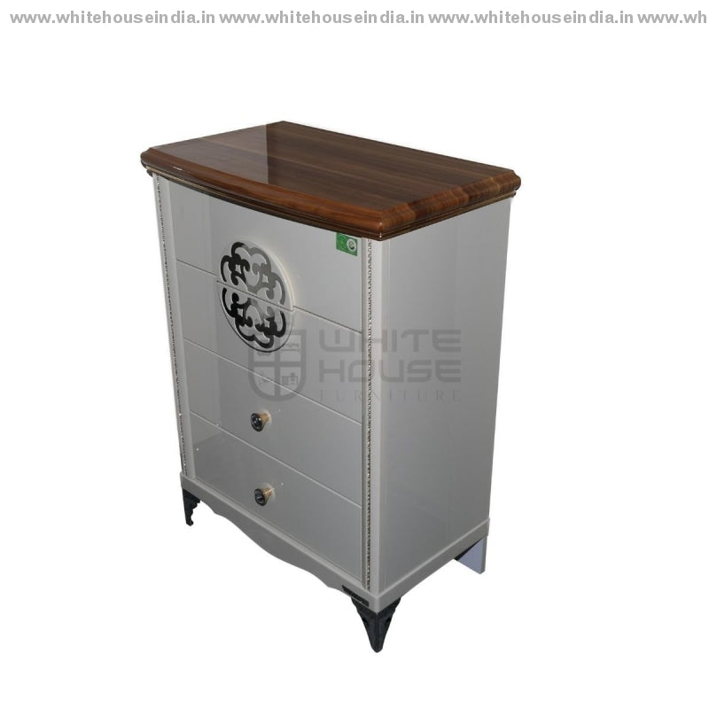 Y-1001 Chest Of Drawer 4 Door Width=27 Height=36 Depth=16 Inc. / #c19A6B Material Mdf With Deco